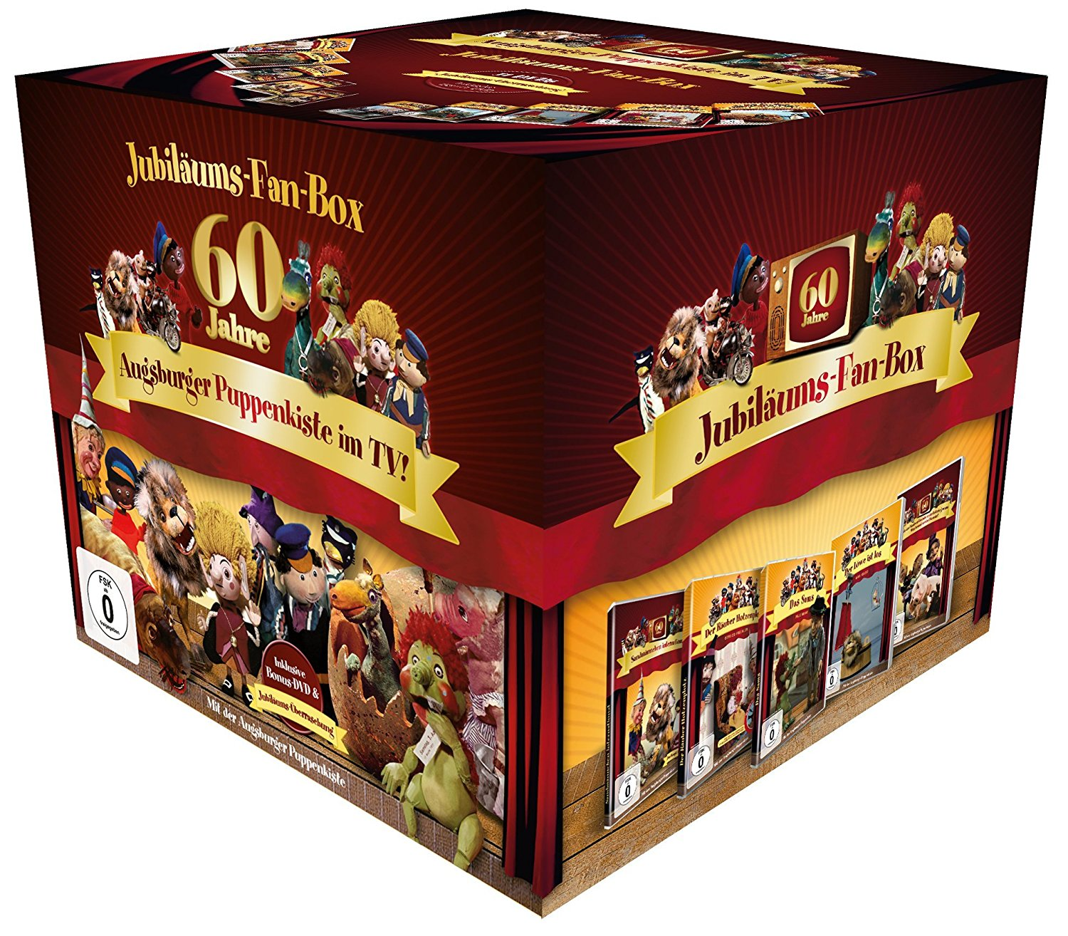 Augsburger Puppenkiste - Jubiläums-Fan-Box.